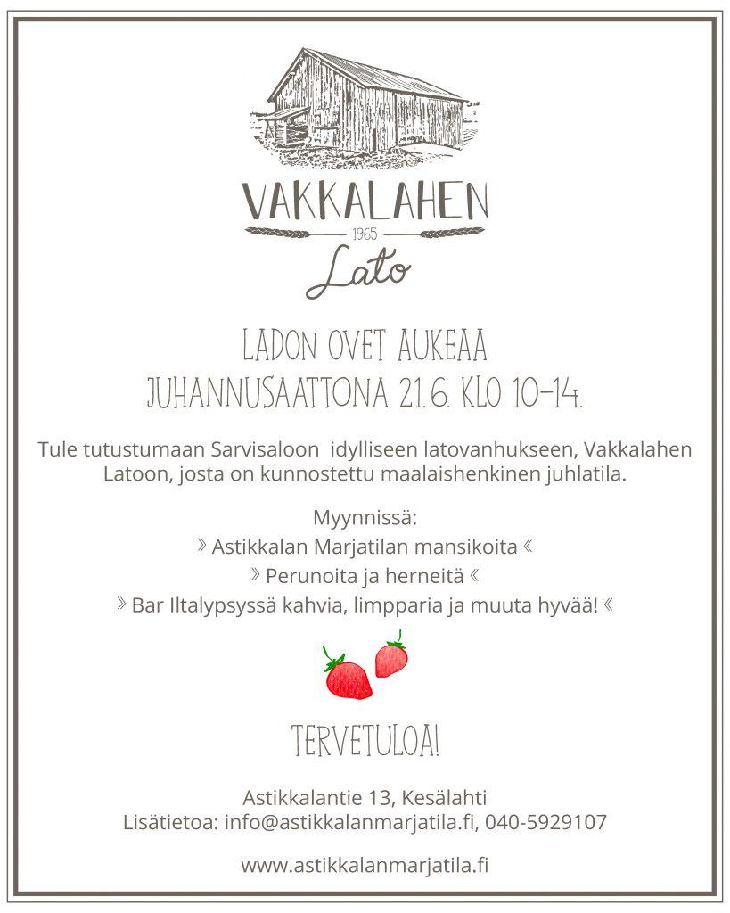 Vakkalahen Lato, juhannus 2019