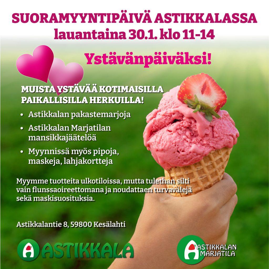 Ystävänpäivän suoramyyntipäivä Astikkalassa 30.1.2020